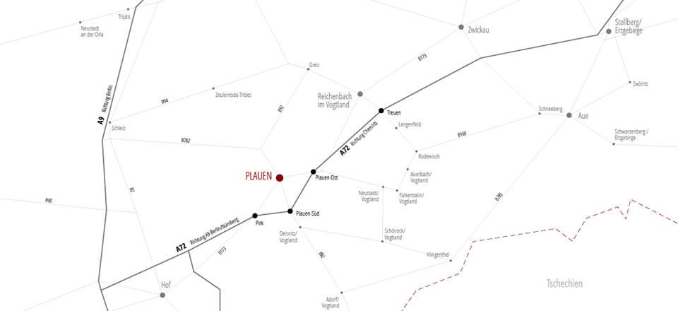 Ihr Weg zu Neumann Architekten BDA in Plauen im Vogtland